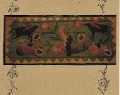 Wool Applique Pattern, Fall Garden Bounty, Wool Applique Table Runner, Black Crow, Primitive Decor, Wool Table Runner, PATTERN ONLY