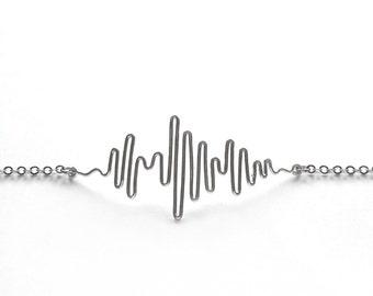 Sound Wave Necklace - Personalized Gift, Soundwave Necklace, Soundwave Jewelry