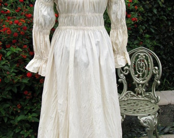 Full Length Medieval Chemise Dress Size Small to Medium Ready To Ship