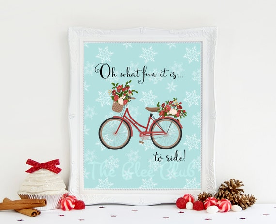 Christmas Print, Oh what fun it is to ride Print, Jingle bells Printable, Instant Download, 8 x 10 Digital, Holiday Sign, Christmas Sign