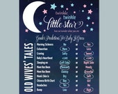 Gender Reveal Wives Tales - Poster - Twinkle Twinkle Little Star - Gender Reveal Party - DIY Printable or Printed Copy -  #00124-OWT