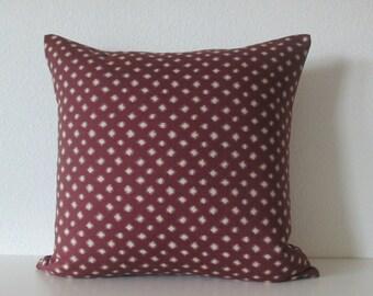 Nate Berkus Desi Plum ikat ogee diamond decorative designer pillow cover