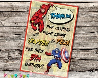 Comic Book Superhero Sign - Editable - Printable - DIY - Digital File - INSTANT DOWNLOAD - Shower - Wedding