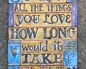 Mixed Media Mosaic Wall Art Altar - And if I asked you to name all the things you love