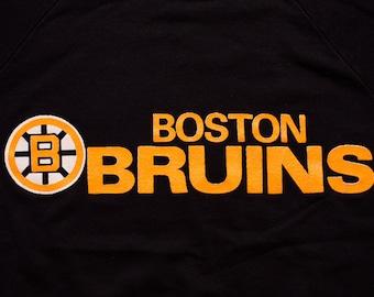 Boston Bruins Sweatshirt, Classic Logo 7 Crewneck Shirt, Vintage 80s
