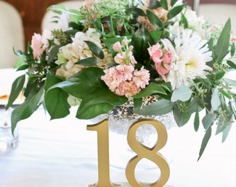 Vintage Wedding Table Numbers for Weddings and Events Wedding Decor for Wedding Gold Table Numbers Wedding Signs Custom Sets (Item - NUM110)