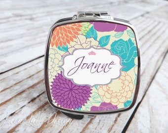 Bridesmaids Gift - Compact Mirror - Aget Floral
