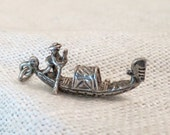 Incredibly Detailed Gondola Sterling Silver Charm