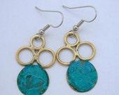Bubble Verdigris Earrings