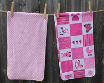 Baby Girl Patchwork Burp Cloths