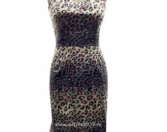 Rockabilly Leopard wiggle Dress
