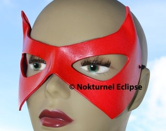 RED Robin Leather Mask Batman Superhero Ms Marvel Halloween DC Comic Con Cosplay Dawn of Justice UNISEX - Available Any Basic Color