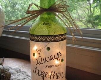 Wine bottle Lamps,lighted bottle,lighted wine bottles,wine bottle lights,lamps,lamp,glass lighted bottles,wine bottle decor,decorated bottle