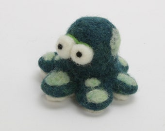 Needle Felted Octopus . Animals. Gifts For Kids. Kids Gift. Felted Octopus . Miniature Animal. Felt Animals. Waldorf Toy. Ornament