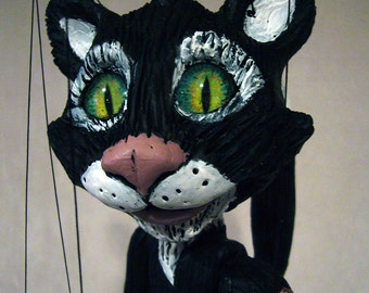 Figaro the Cat - MADE TO ORDER, one-of-a-kind Marionette (The Adventures of Pinocchio)