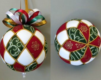Christmas Ornament Tutorial - Pattern - Instructions - DIY - No Sew - Argyle