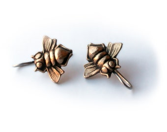 Insect bee earrings
