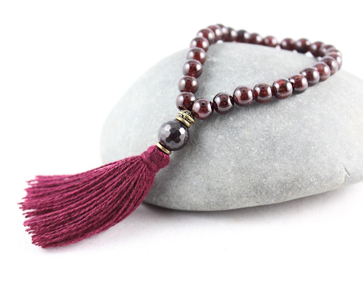 how to make a mala bracelet with tassel
