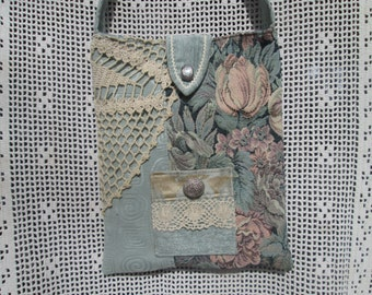 Boho Shabby Chic Mori Girl Tapestry Brocade Lace Cross Body Bag