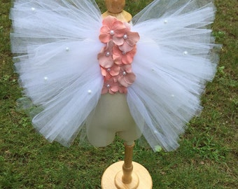 White and rose girls fairy wings, girls angel wings, white fairy wings, white angel wings, halloween costume