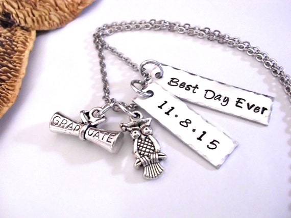 sale now graduation jewelry best day ever date by charmaccents