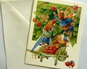 "Vintage Hallmark Marjolein Bastin ""Vera The Mouse""  Blank Card - Unused - Collectible Greetings Cards"