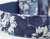 Chambray Blue Floral Dog Collar - Liberty of London