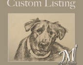 """RESERVED CUSTOM Listing for Stacey (9) Nine 5"""" x 7"""" Charcoal Renderings"""