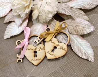Heart and Key Wedding Favors 115 pieces Love Locks Wedding Favor