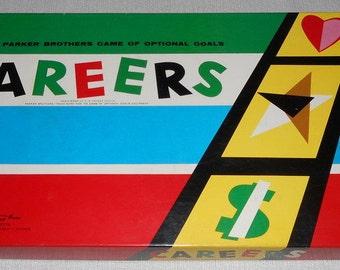 Careers Board Game Vintage Board Game Parker Brothers Game 1955