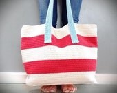 Crochet Pattern, The Chelsea Cotton Tote, Crochet Pattern, Crochet, Crochet Handbag Pattern, Crochet Tote Pattern, Crochet Summer Bag