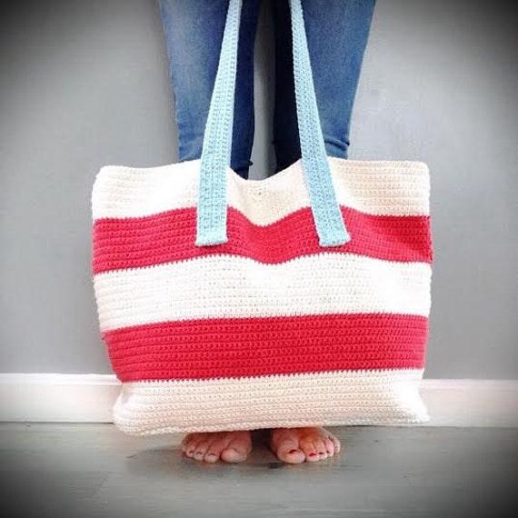 Crochet Bag Pattern, The Chelsea Cotton Tote, Crochet Pattern, Crochet ...