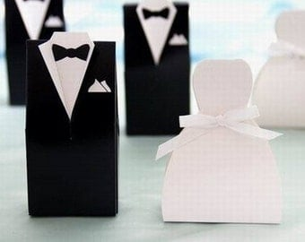 100 Groom and Bride Favor Boxes, Favor Boxes, Small Favor Boxes, Wedding Favor Boxes, Bulk Favor Boxes, Wedding Favors, Favors, Wedding