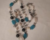 Vintage / SEASHELL NECKLACE / Stone / Glass / Wood / Freshwater Pearl / Mother-of-Pearl / Beach / Nautical / Organic / Tribal / Accessory
