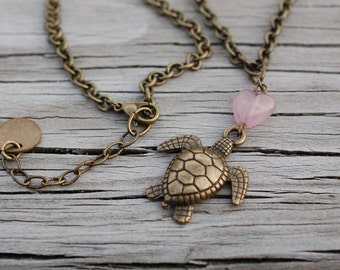 Turtle Heart Necklace