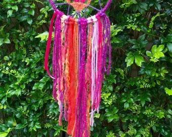 Doily Boho Pinks & Oranges Dreamcatcher