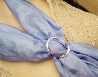 Bronze scarf ring, OOAK, SAAF09