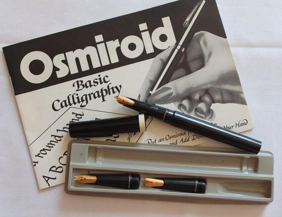 Vintage Osmiroid Basic Calligraphy Pen Set Vintage Osmiroid