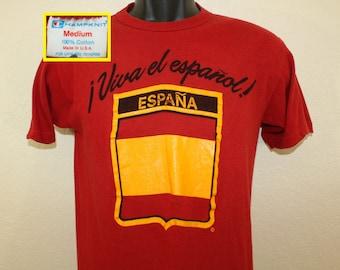 Spain España Viva el español vintage t-shirt XS/S soft all cotton Spain Spanish