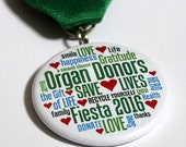 Organ Donors Save Lives 2016 San Antonio Fiesta Medal (transplant kidney lung liver heart dialysis donate life)