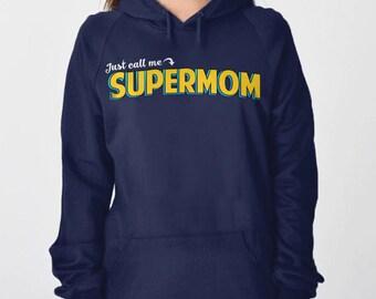 Wife Gift for Mom Shirt: Super Mom Hoodie, New Mom Gift, Mother Gift for Her, Super Mom Sweatshirt, Womens Hoodie, Supermom Mom Sweater Hero