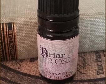 BRIAR ROSE Perfume Oil / Vegan perfume Oil / Rose Lily Amber Perfume / Handcrafted Perfume Oil