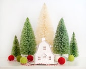 Putz House Ornament DIY Kit Dutch Colonial Glitter House Christmas Decoration Paper Craft Kit