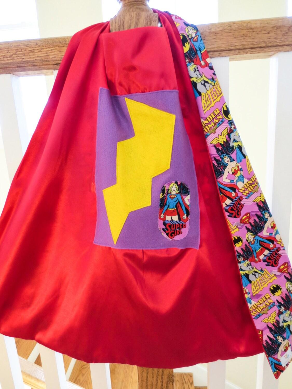 Small super girl superhero cape wonder woman bat girl for Small cape