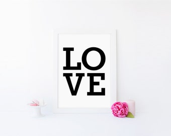 INSTANT PRINTABLE - Love - Inspiring 8 x 10 inch Art Print by anna and blue paperie