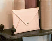 Woman Executive Leather Envelope iPad 2/ iPad Air Clutch / Case / Sleeve, Hand Stitched by HarLex