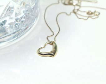 14kt Yellow Gold Heart Pendant Necklace 14k gold
