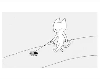 "Beast Tamer (Hamster) - fine art print 5""x7"""