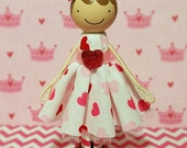 SweetHeart Cadence Miniature Wooden Clothespin Doll