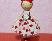 SweetHeart Renee Miniature Wooden Clothespin Doll
